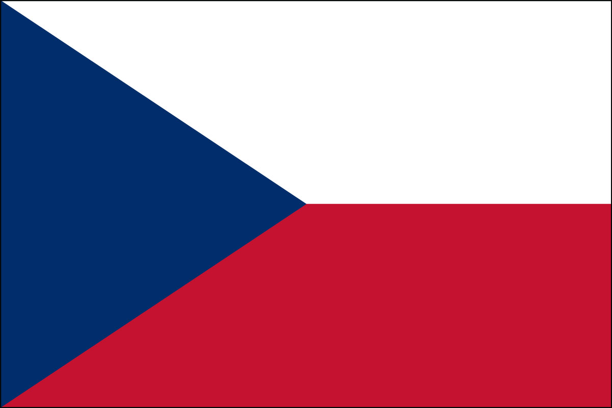 Czech Republican Flag. Link Clicks to Czech Republic Jelly Belly Site