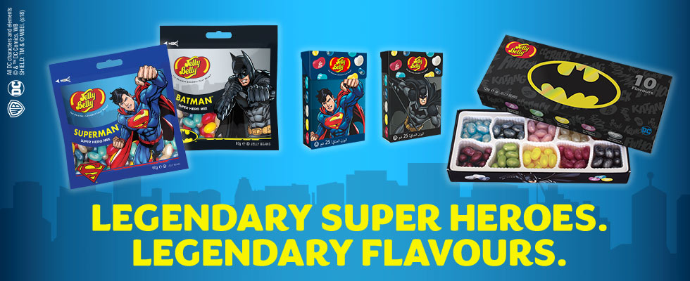 Legendary Super Heroes. Legendary Flavors.  DC Comics.