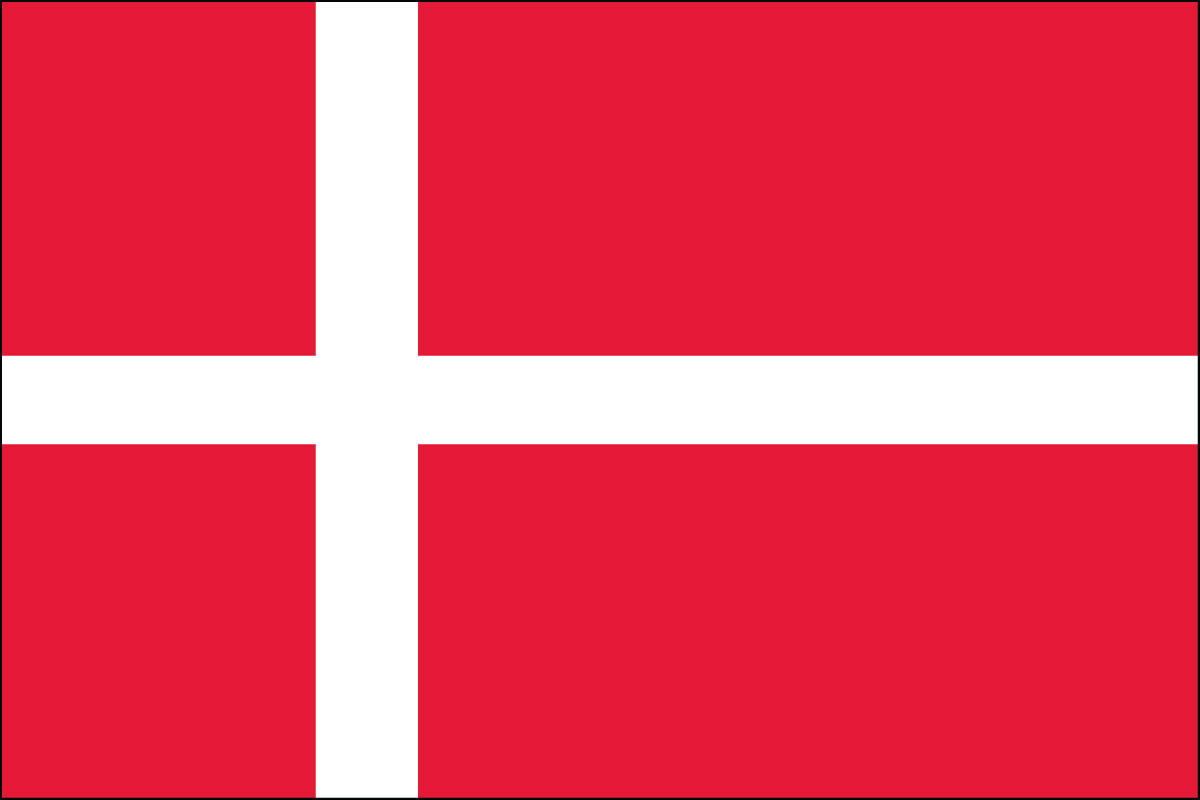 Denmark Flag. Link Clicks to Denmark Jelly Belly Site