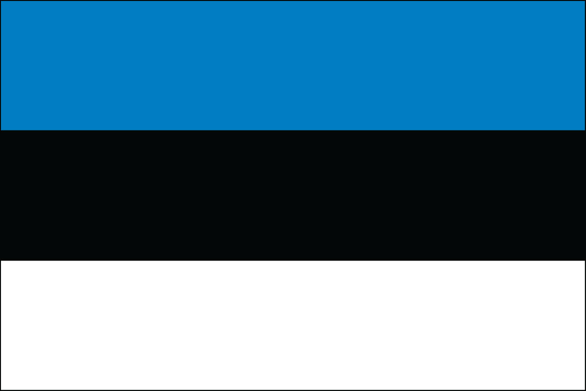Estonian Flag. Link Clicks to Estonian Jelly Belly Site