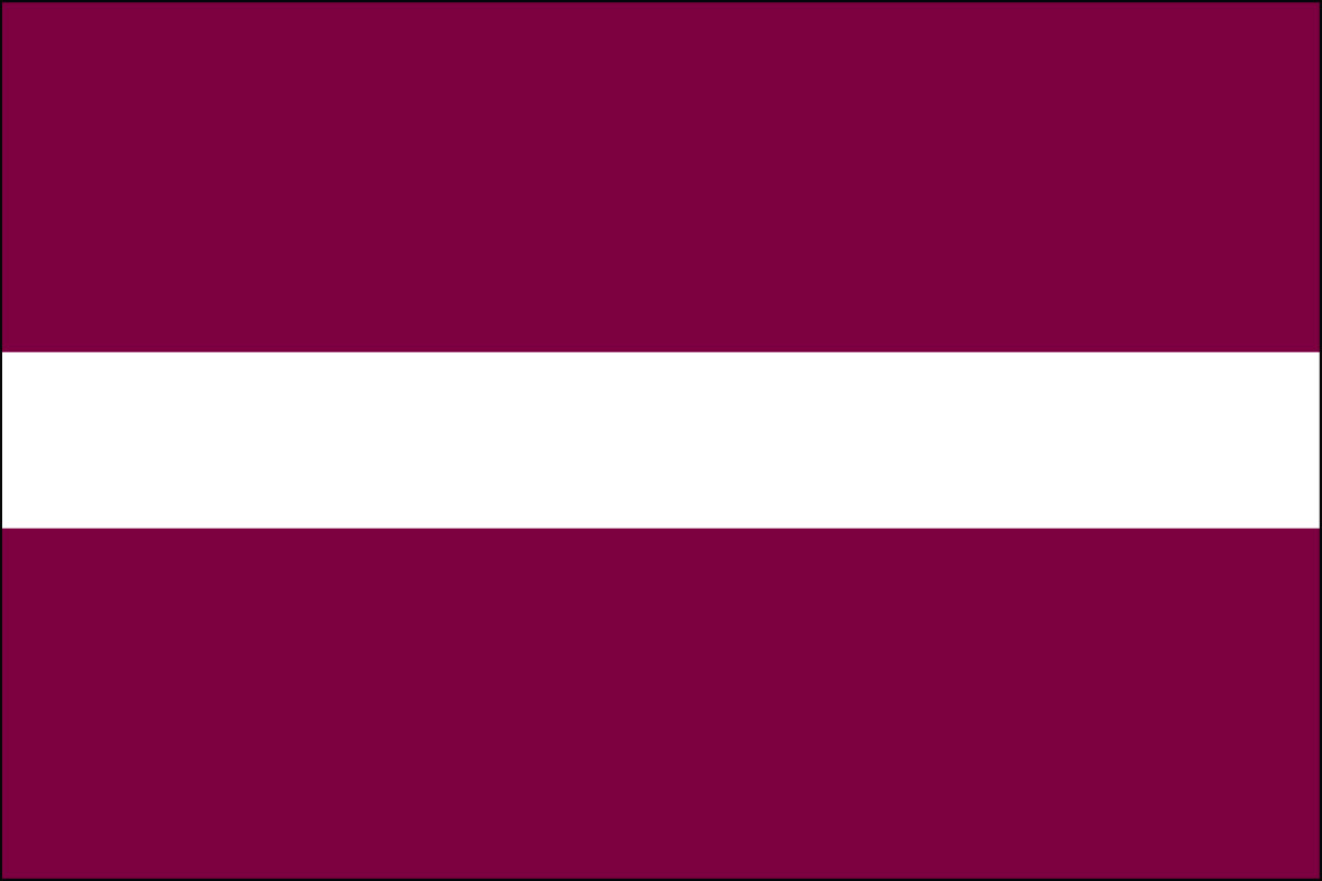 Latvian Flag. Link Clicks to Latvian Jelly Belly Site