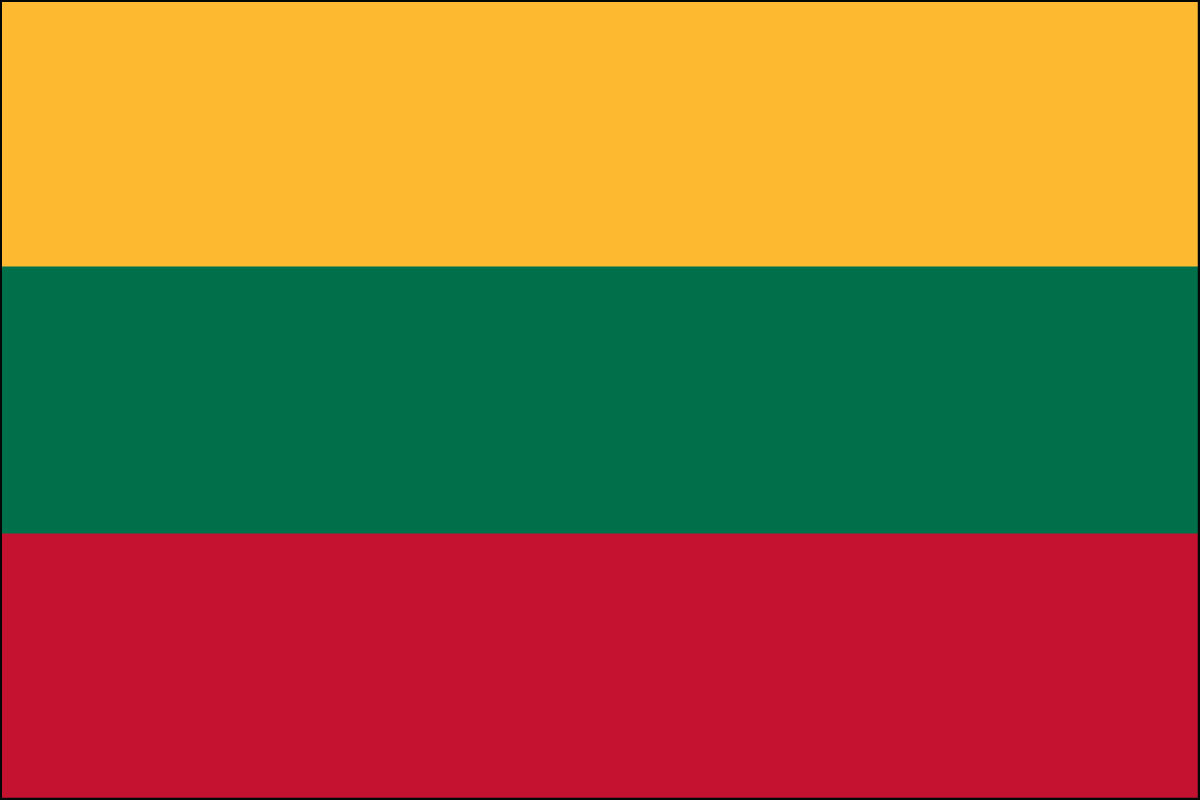 Lithuanian Flag. Link Clicks to Lithuanian Jelly Belly Site
