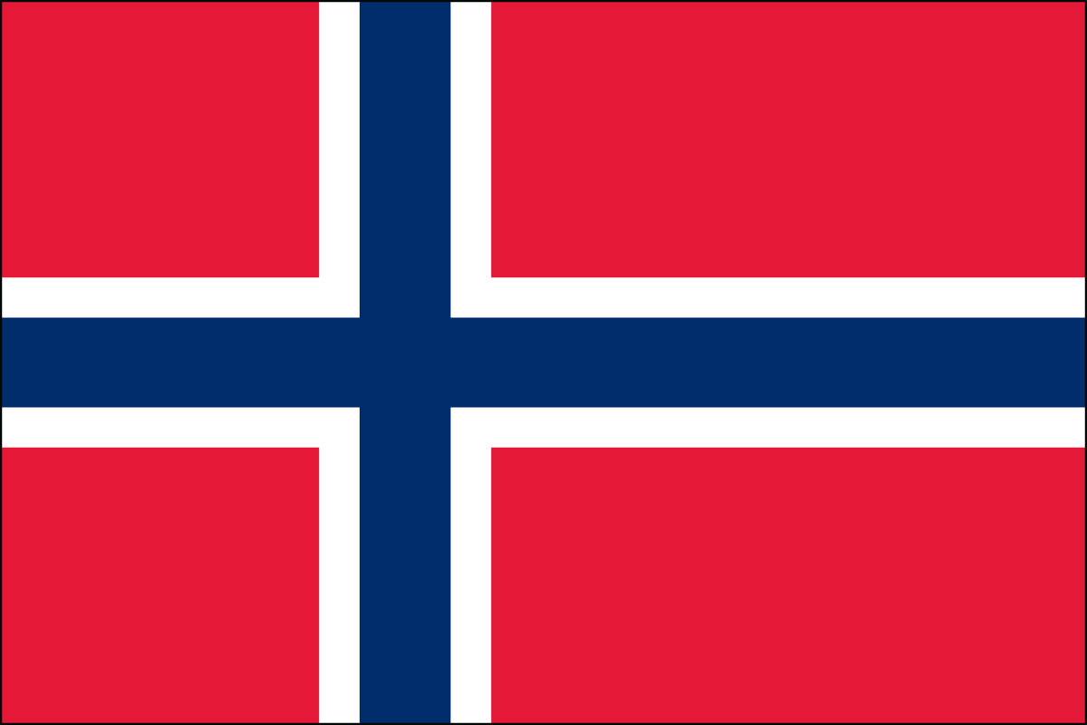 Norwegian  Flag. Link Clicks to Sweden Jelly Belly Site