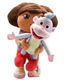 dora hugging boots plush