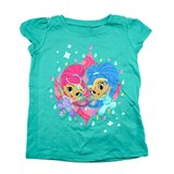 shimmer and shine best friends tee aqua