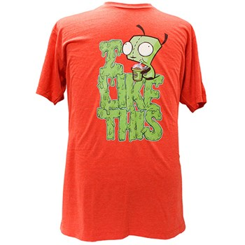 invader zim red tee