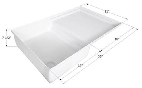 ICON SP400 Combo Shower Pan in Polar White