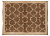 Outdoor Mat  9' x 12'  - Lattice Brown/Tan Image 1