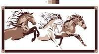Faulkner 9x12 Brown and Beige Horse RV Mat Image 1