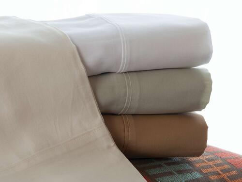 Denver Mattress Sateen Short Queen Sheet Set Ivory Image 1