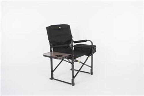 Faulkner El Capitan Folding Director's Chair with Cooler in Black Image 1