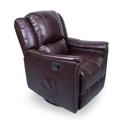 Swivel Glider Recliner in Jaleco Chocolate Image 1