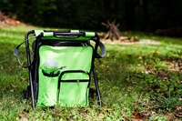 Camping Stool Backpack Cooler  - Green Image 1
