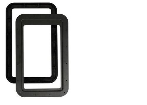 Slim Shade Entry Door RV Window Replacement Frame/Inner and Outer  Frame-Black