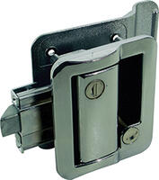 Fastec Industrial FIC Travel Trailer Lock (with Keyed Deadbolt) - Chrome