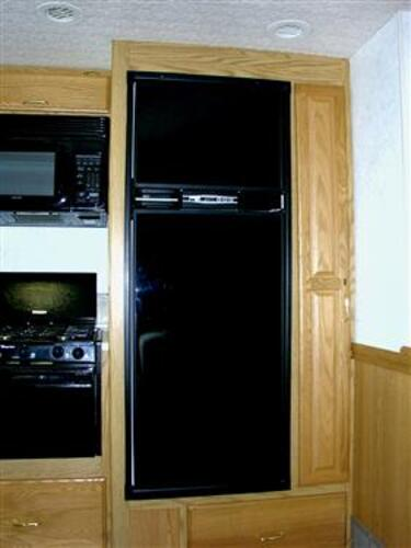 ?Refrigerator Door Panel, Upper And Lower Panel Fits Norcold NA7LX Series Refrigerator, Black; Acrylic
