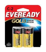 Alkaline Batteries, C, 2/card