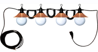 Patio String Light4 GlobeBronze For Your RV Awn