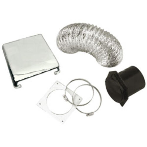 72-4921 - Dryer Vent Installation Kit; Black - Image 1