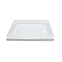 "Shower Pan with Right Drain; 24"" x 36"" (White) Image 1"