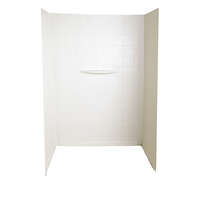 "Shower Wall Surround; 24"" 40"" x 62"" (Parchment) Image 1"