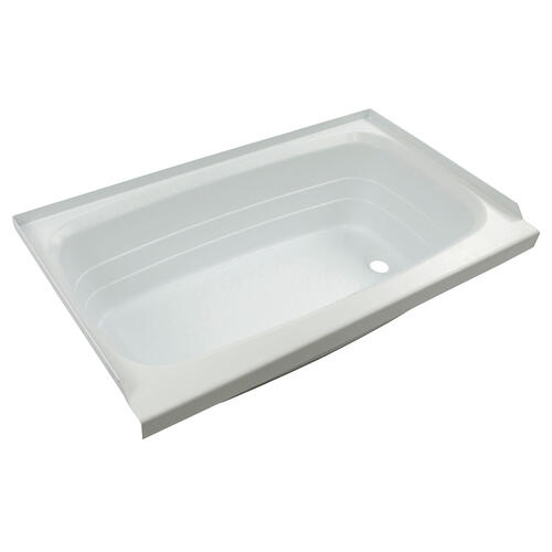 "Bathtub with Right Drain; 24"" x 40"" (White) Image 1"