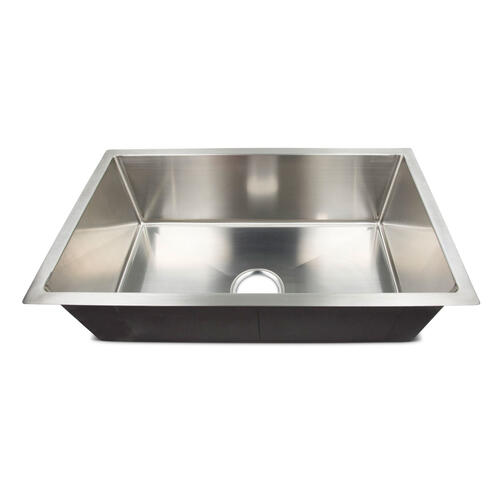 "Single Square Sink - 27"" x 16"" x 7"" (Stainless Steel) Image 1"