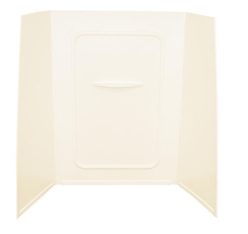 "Bathtub Wall Surround; 24"" x 36"" x 59"" (Parchment) Image 1"