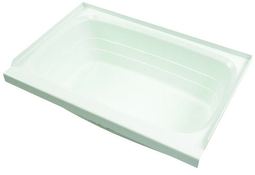 "Bathtub with Left Drain; 24"" x 46"" (White) Image 1"
