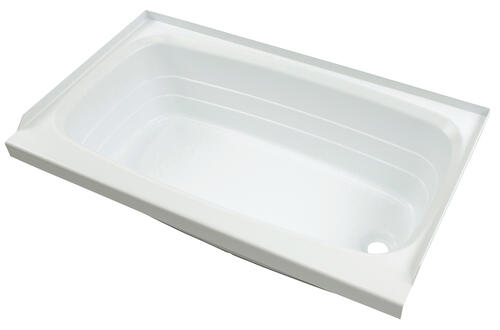 "Bathtub with Right Drain; 24"" x 46"" (White) Image 1"