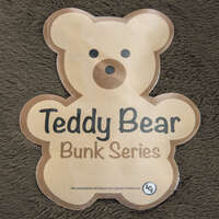 "Teddy Bear Bunk Mat - 28""x74""x4"" CHOCOLATE Image 1"