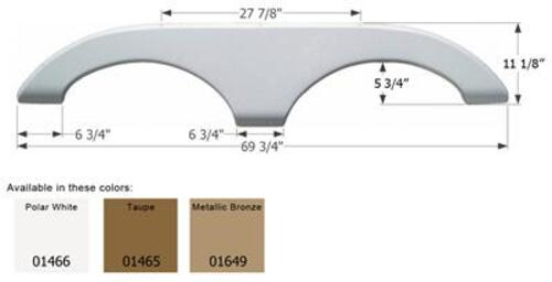 Keystone Tandem Axle 5th Wheel RV Travel Trailer Fender Skirt Image 1