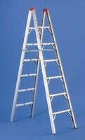 Compact Folding RV Ladder By Gpl - 7ft - Folds To 3.5 X 4.5