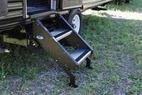 "?Step Above Trailer Steps - 2 Step, 24"" Door"
