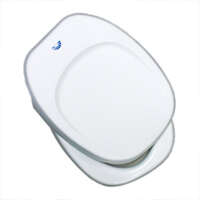 83-9288 - Square Toilet Seat - Closed Front - White - Image 1