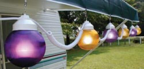 Globe Lights Purple/Yellow