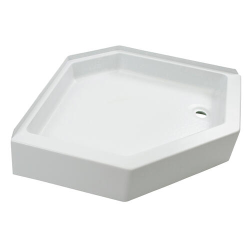 "Shower Pan with Right Drain; 24"" x 46"" (White) Image 1"