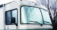 Foil Insulation Installed in Motorhome Window picture