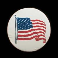 american flag tire covers size I