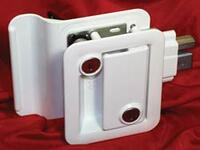 Trimark Style Door Lock for Trailers - White