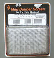 mud dauber screen for water heater