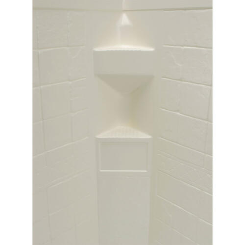 "Neo Angle Shower Wall Surround; 34""x 34""x 64"" (Parchment) Image 1"
