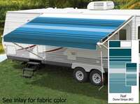 18' Universal Awning Replacement Fabric - Teal with Weatherguard