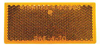 483 Rectangle Reflector, Amber