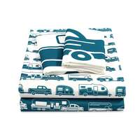Life is Better at the Campsite RV Bed Sheet Set, RV Queen, Blue