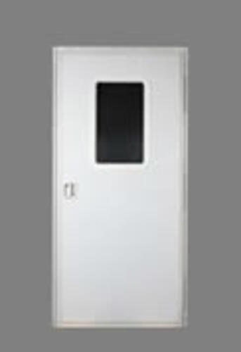 28x72 Square Entry Door - Right Hand - Polar White
