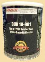Duraself TPO & EPDM Rubber Roof Adhesive is a water-based acrylic adhesive that is environmentally friendly and user safe.