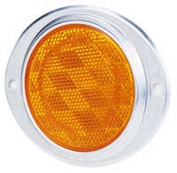 472 Oval Reflector, Amber