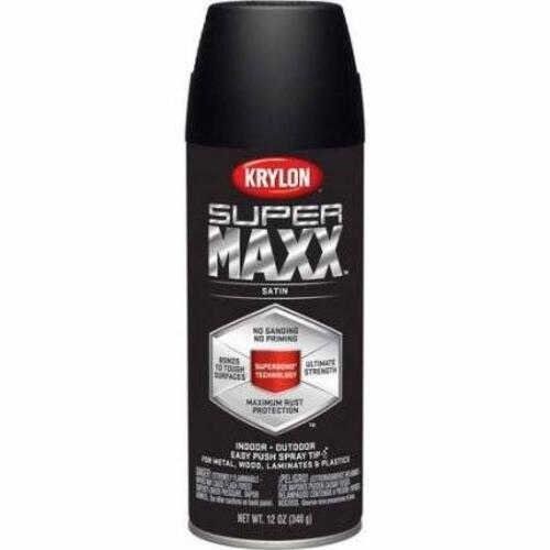 Krylon Paint Satin Black Image 1