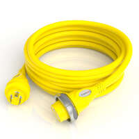 30A LED Cordset - 50' (Yellow) Image 1